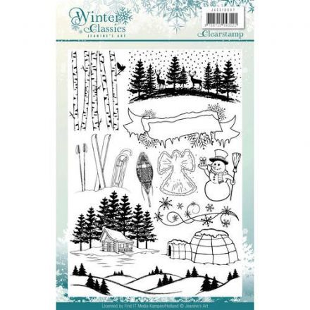 JACS10007 ~ Winter Classics ~ Clear Stamps ~ Jeanine's Art